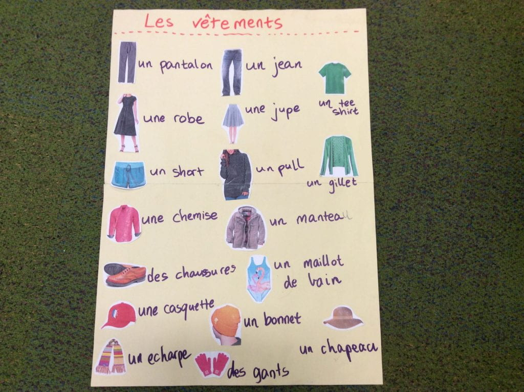 Les ventements- clothes